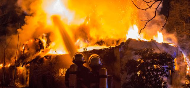 Reetdachhaus brennt nieder